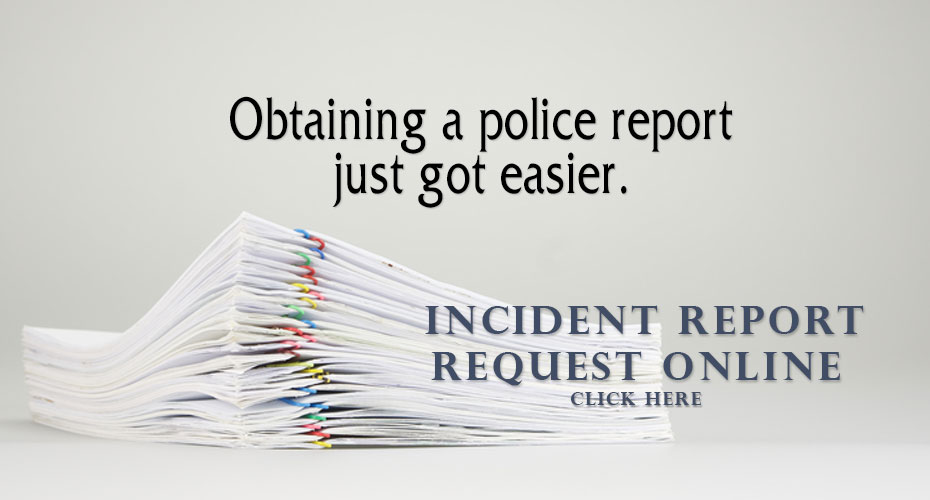 Incient Report Request Online
